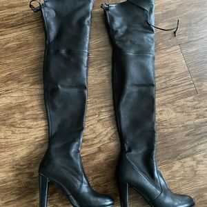 Stuart Weitzman Thigh High Leather Boots
